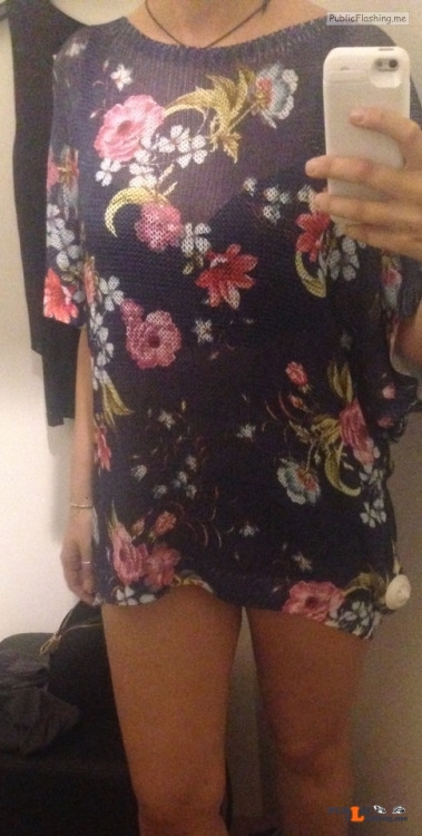 No panties hottysjourney: My new dress… want to see if there's something... pantiesless Public Flashing