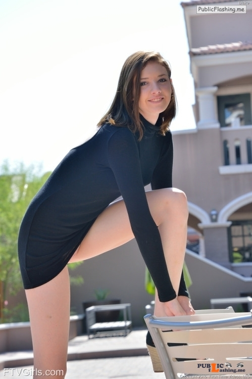 FTV Babes upskirt Long legged Blaire needs a minute to fix her shoe. We need a... Public Flashing