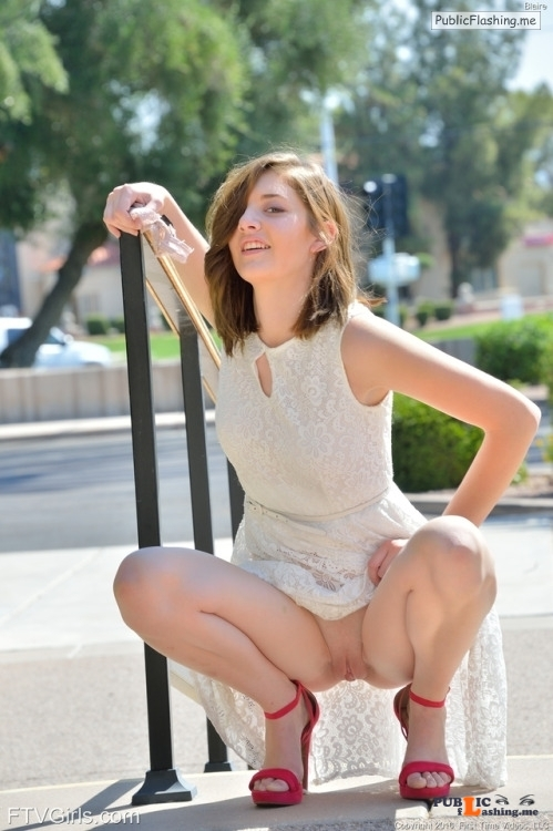 FTV Babes Pretty Blaire takes her panties off and poses in public.See more... Public Flashing