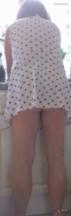 No panties 555666zzz: Do you think my Mini dress is too short… Absolutely... pantiesless Public Flashing