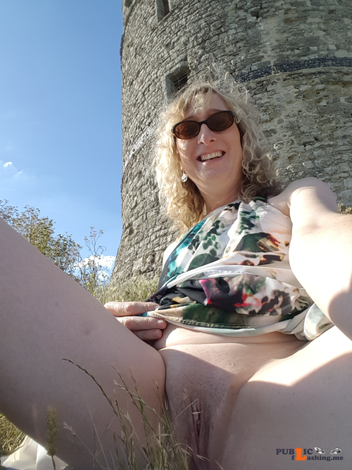 No panties essex girl lisa: Just me flashing at the local beauty spot... pantiesless Public Flashing