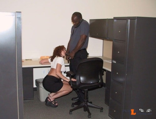 Exposed in public My wife always liked to show her appreciation to the office's... Public Flashing
