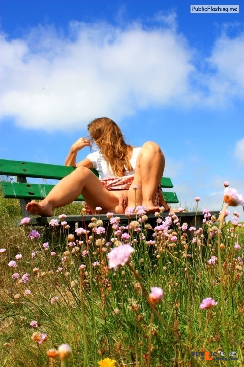 No panties marajania: Beautiful flowers pantiesless Public Flashing