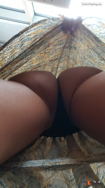No panties dfwcouple1287: No panties on today. This is my view. I will... pantiesless Public Flashing