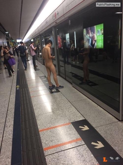 Public nudity photo walkingandswinging:Brave guy in Hong Kong… Follow me for more... Public Flashing