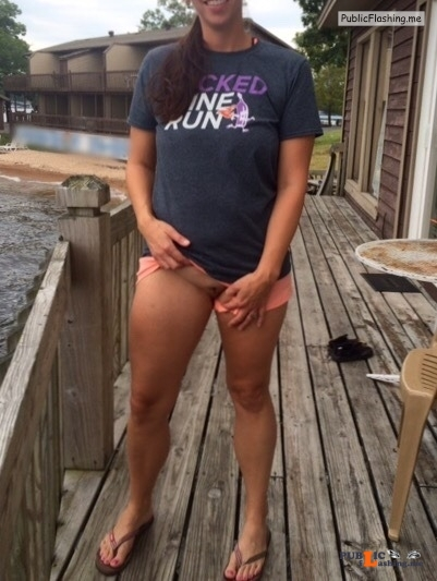 No panties Uh oh! ? I'm bare under there! ? Cum follow again please!! Just... pantiesless Public Flashing