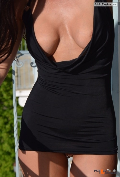 No panties ginandhubby: Do you remember the little black dress ? ???????❤️ pantiesless Public Flashing