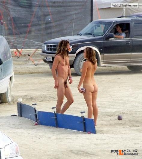 Burning man nude girls