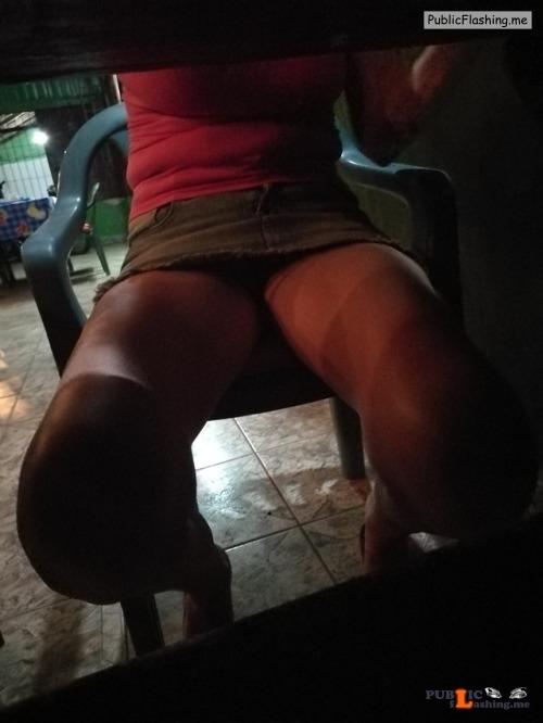 No panties fuckmymilf: out playing pantiesless Public Flashing
