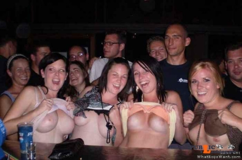 Public nudity photo enf findings:Daring to flash for free drinks. Mine's a... Public Flashing