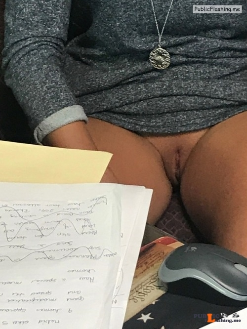 No panties fuckedmeharder: Stopped by the wife's office. Glad I did! pantiesless Public Flashing