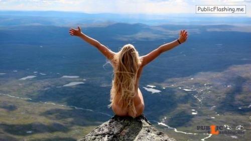 Outdoor nude selfshot Beautiful teens in beautiful nature Public Flashing