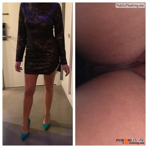 No panties hotwifeyshare: My Hotwife Going to Hotel Bar With No Panties on... pantiesless Public Flashing