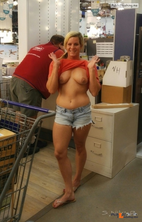 Public exhibitionists nikikittenniki: Stopped at Lowes in Scottsdale I got some new... Public Flashing
