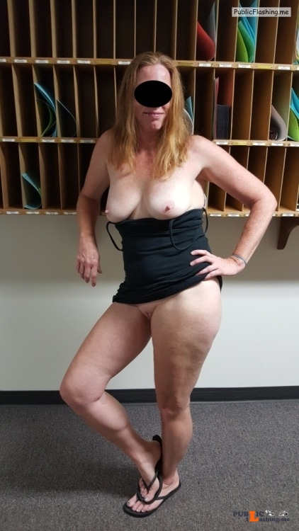 No panties I promised to send some to you once I got home from work….so... pantiesless Public Flashing