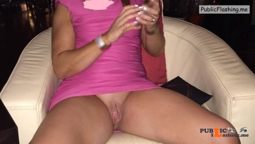 No panties My gorgeous wife in a bar, dressed the way we both like... pantiesless Public Flashing
