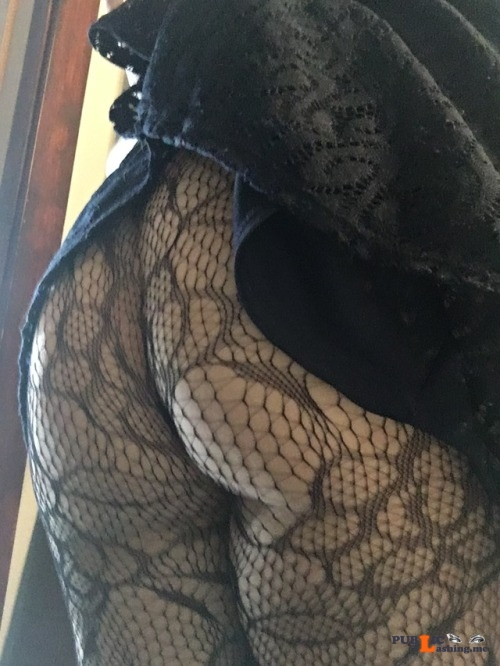 No panties arousingexpectations: No panties + lace tights. Tonight will be... pantiesless Public Flashing