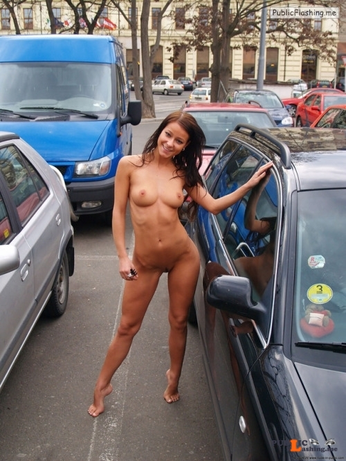 Public flashing photo nudeandnaughtyflashing: She just has no luck trying to find her... Public Flashing