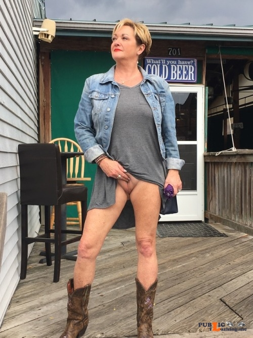 Exposed in public stlcuck43: Yes That's my Fine Pussy! Public Flashing