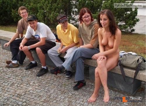 Public nudity photo nakedenfcaptions:I thought we agreed to show up naked today! I... Public Flashing