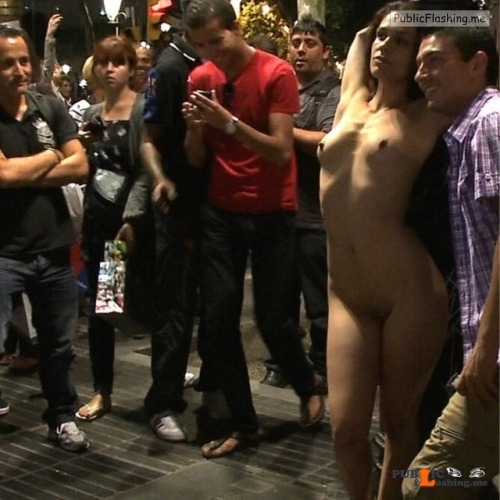 Public nudity photo nakedenfcaptions:Losing a soccer bet Samantha was paraded... Public Flashing