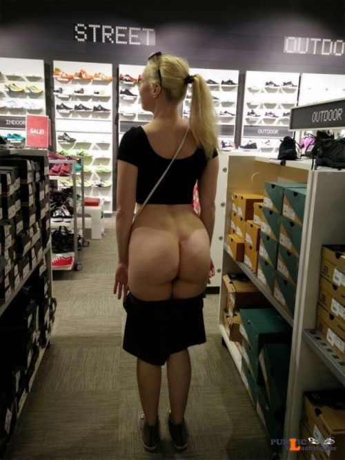 Public flashing photo page o asses:A dare is a dare! Public Flashing