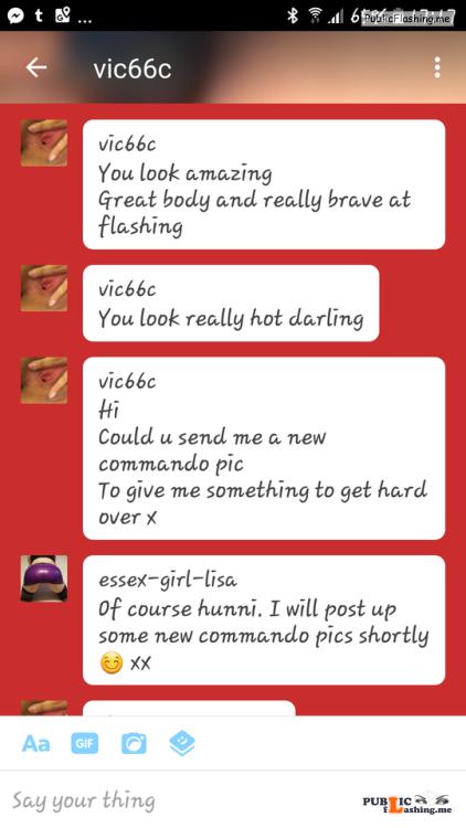No panties essex girl lisa: @vic66c I went commando to the Cliff pub last... pantiesless Public Flashing