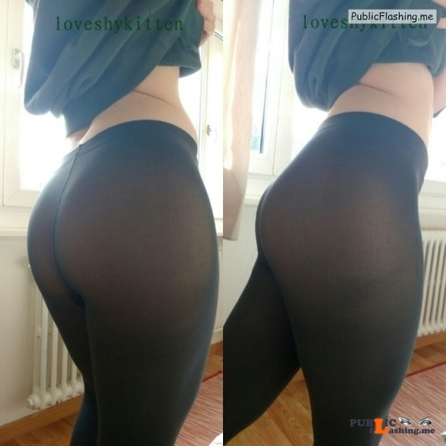 No panties loveshykitten: Someone asked for some shots in leggings… So... pantiesless Public Flashing