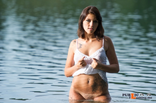 No panties austrianbeauty: Wet pantiesless Public Flashing