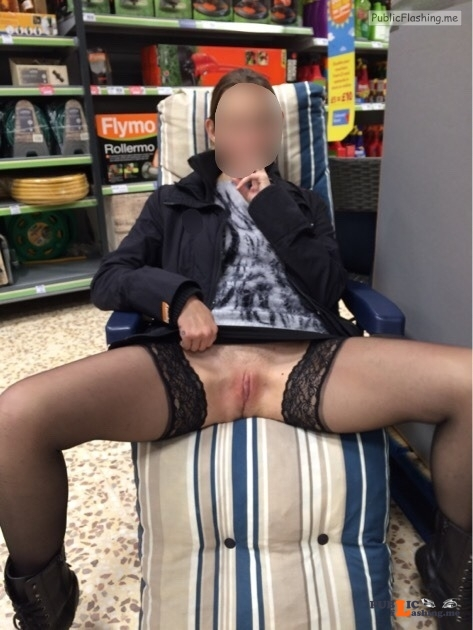 No panties reddevilpanties: Shopping is so much more fun without knickers!... pantiesless Public Flashing