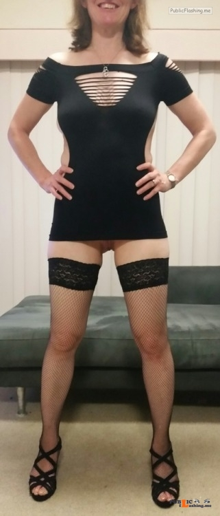 No panties tumblerwinner: New date night dress, pretty sure this one won't... pantiesless Public Flashing