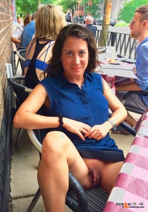 Exposed in public Meaty… Public Flashing