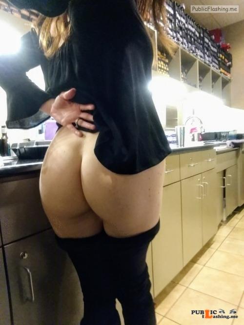 No panties thepervcouple: My wife never wears panties. She also likes to... pantiesless Public Flashing