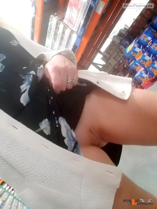 No panties xoxox shhh: there are absolutely NO cute guys in costco today. ... pantiesless Public Flashing