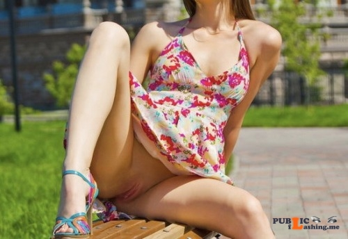 No panties Can't wait for summer pantiesless Public Flashing