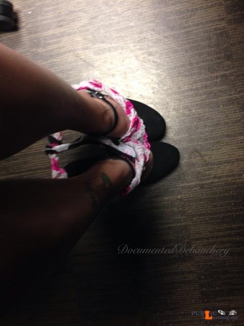 No panties documenteddebauchery: I sent Daddy my daily pictures like I do... pantiesless Public Flashing