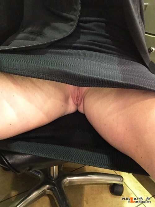 No panties thepervcouple: The view for anyone sitting across from my wife... pantiesless Public Flashing