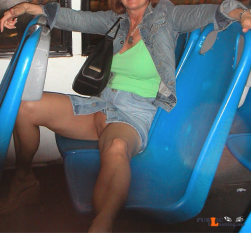 Exposed in public yourhappytraveler: Public bus ride in Cancun. Public Flashing