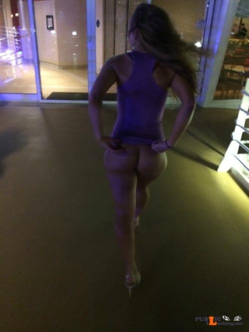 No panties stlswingercpl: Heading into the club! Commando clubbing pantiesless Public Flashing