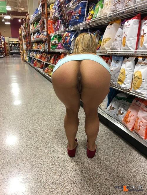 Public flashing photo shoppingbabes5: Ass flash at the potato chips section … Public Flashing