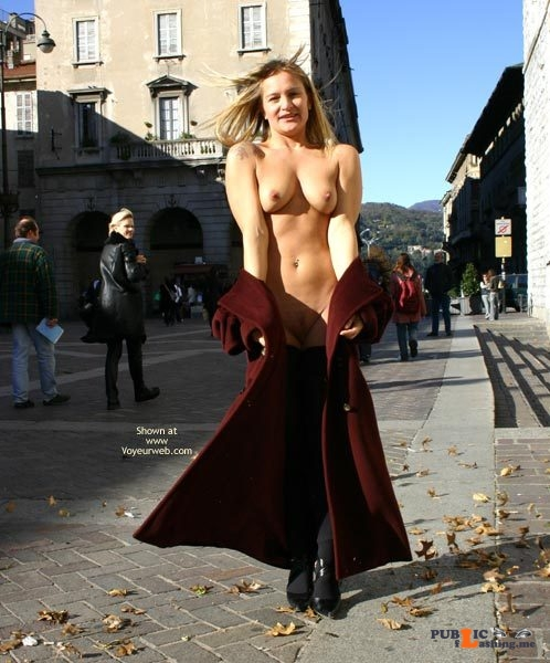 Public nudity photo Follow me for more public exhibitionists:... Public Flashing