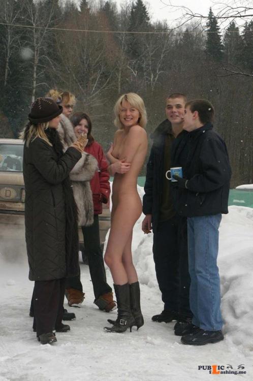 "Public nudity photo fanofenf: ""Aren't you guys cold?"" ""No."" Not... Public Flashing"