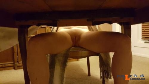 No panties Best food is served under the table. Thanks for the submission... pantiesless Public Flashing