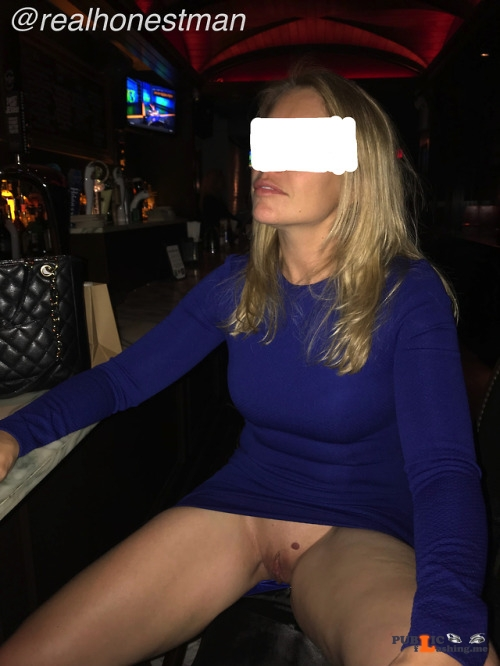 No panties realhonestman: need to get the bartender's attention. Yes, that... pantiesless Public Flashing
