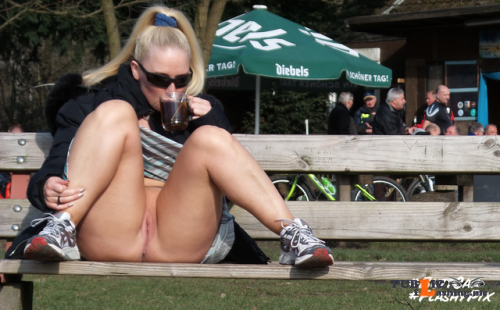 hot tea on a winter walk. #buttcat #cazilla flashing in public picture Public Flashing