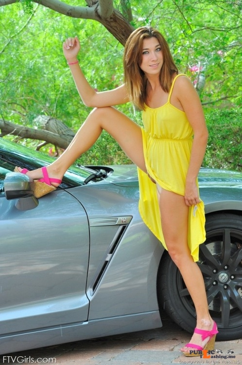 FTV Babes upskirt Hannah chooses a rather unconditional upskirt pose. Not that we... Public Flashing