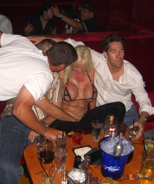 Exposed in public Party girl… Public Flashing