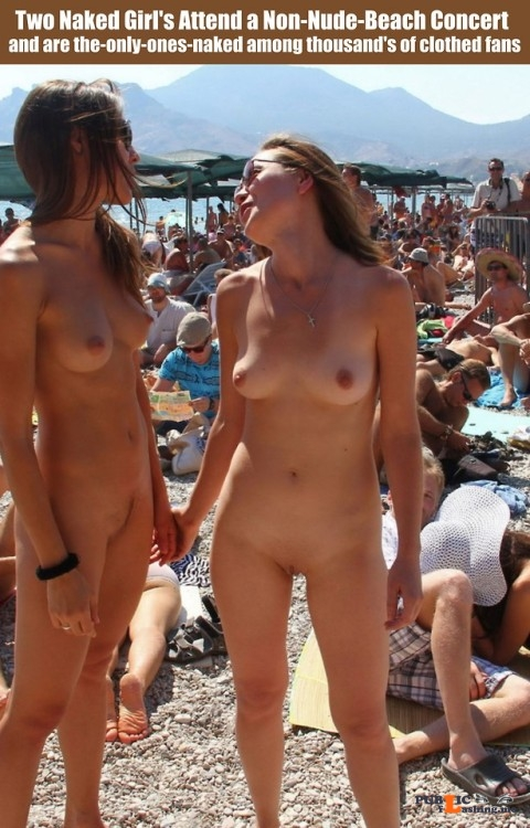 Public nudity photo cfnf clothed female naked female: Two Naked Girl's Attend a... Public Flashing