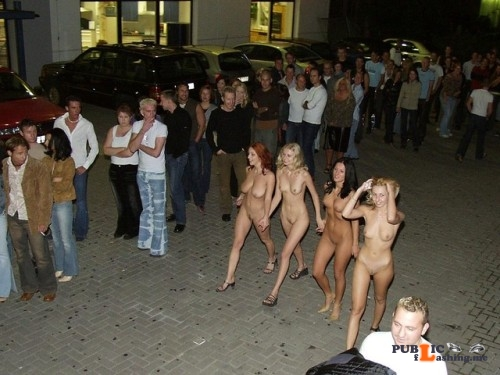 "Public nudity photo fanofenf: ""See girls, I told you that these dresses would get us... Public Flashing"