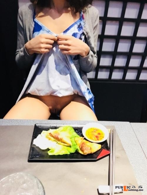 No panties kinkyselene: Sushi 🍣 pantiesless Public Flashing